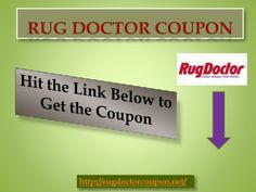 Rug Doctor Coupon