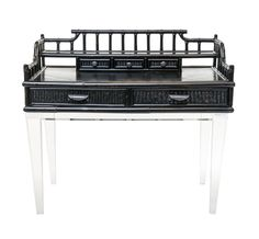 Black Bamboo Desk