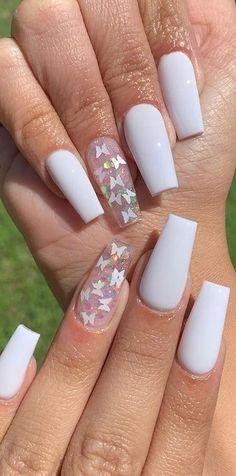 Acrylic Nails Yellow, Acrylic Nails Coffin Short, Simple Acrylic Nails, Best Acrylic Nails, Cute Acrylic Nail Designs, Simple Nail Art Designs, Crystal Nails, Sunflower Nails, Lavender Nails