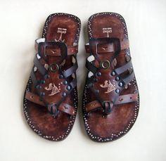 Handmade Leather Sandals - Imagination $70 #leather #sandals