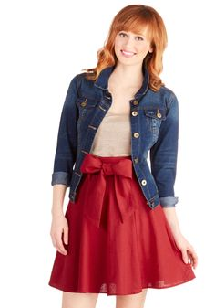 Musee Matisse Skirt in Crimson, @ModCloth