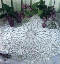 Large crochet doily - crochet doilies - Home decor - White crochet doily - Handmade tablecloth by DoiliesbyElena on Etsy Filet Crochet, Art Au Crochet, Beau Crochet, Crochet Doily Diagram, Crochet Doily Patterns, Thread Crochet, Knitting Patterns, Crochet Daisy, Crochet Designs