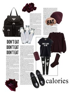 If Eating Disorder was a Person by tasteslikeblood on Polyvore featuring polyvore, River Island, Topshop, Dsquared2, Prada, Aspinal of London, Susquehanna Glass, fashion, style, clothing and ifmentalillnesseswerepersons