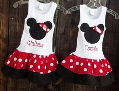Mickey Mouse Minnie Mouse BROTHER SISTER SET by RNBDesignz on Etsy, $47.95