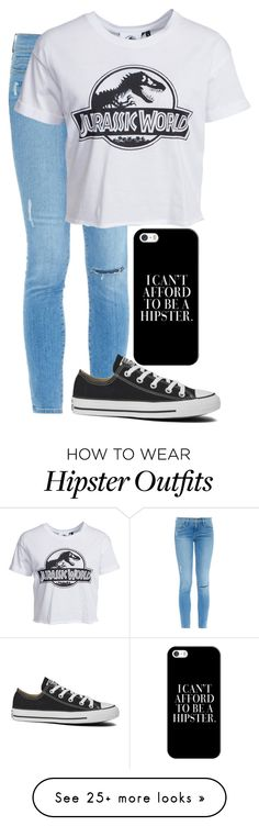 """Untitled #32"" by boobear242 on Polyvore featuring Casetify, Frame Denim, New Look and Converse"