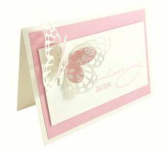Einladungskarte Aus Dem Set Rosy Butterfly, Taufeinladung, Baby Shower,  Taufe, Einladungskarte,