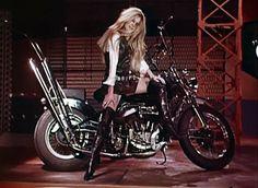 "areyouwiththeband: "" Brigitte Bardot in the Harley Davidson video is my aesthetic goal """