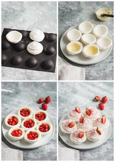 Meringue Desserts, Mini Desserts, No Bake Desserts, Pastry And Bakery, Pastry Cake, Summer Dessert Recipes, Desert Recipes, Baking Recipes, Cake Recipes