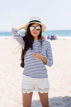 Chapéu Panamá na praia