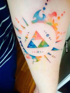 Watercolour triforce