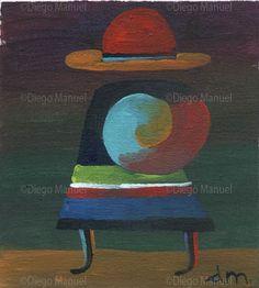 """""""Coya"""", acrylic on canvas, 14 x 13 cm. #art #followart By Diego Manuel"""