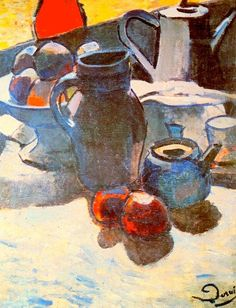 Still Life with Blue Pot - Andre Derain - 1904