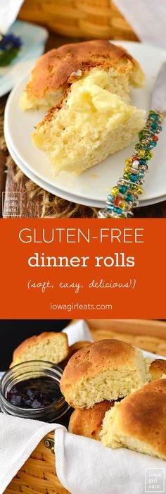 Gluten-Free Dinner Rolls are prepped in 5 minutes in just one bowl. A soft, doughy, and totally craveable gluten-free side dish for dinner! | iowagirleats.com