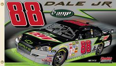 Dale Earnhardt Jr. AMP 88 Giant 3'x5' NASCAR Flag - Hendrick Motorsports 2009 Two-Sided Fabric Banner - available at www.sportsposterwarehouse.com Nascar Flags, Dale Earnhardt Jr, Nascar Racing, Man Cave, Banner, Universe, Amp, Fabric, Decor