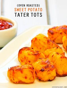 Homemade Oven Roasted Sweet Potato Tater Tots // wishfulchef.com