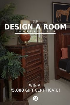 Gallery Furniture is giving all Houston area pinners a creative opportunity to showcase your design skills in our Design A Room contest for the chance to win up to a $5,000 GF gift card plus more! Simply curate an individual Pinterest board using the GF styles that you think would create the most beautiful bedroom or living room! Follow the pin to learn more about this exciting chance and how you can enter to win! Good luck! | Houston TX | Gallery Furniture |