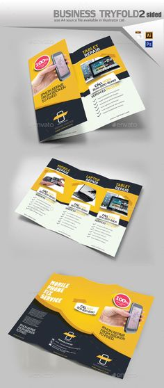 Buy Cellular Repair TriFold by Designcrew on GraphicRiver. Cellular Repair TriFold Brochure fully editable in illustrator and Photoshop Source: by 11 Bleed: I. Broucher Design, Flyer Design, Print Design, Graphic Design, Computer Repair, Laptop Repair, Illustrator Cs6, Information Graphics, Business Brochure