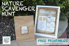 Nature Scavenger Hunt for the Kids {FREE Printables}