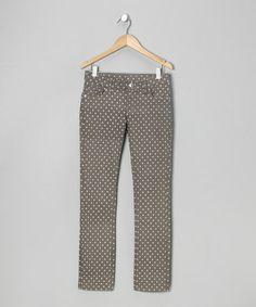 Gray Polka Dot Twill Jeans - Toddler & Girls #zulily #zulilyfinds