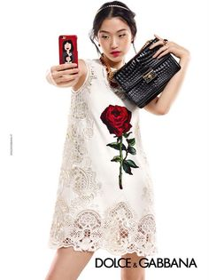 01c010b4039b The phone case is adorable! dolce and gabbana fall winter 2015 2016 campaign  ad woman accessories collection