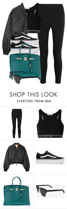 """#14757"" by vany-alvarado ❤ liked on Polyvore featuring Alexander Wang, T By Alexander Wang, Vans, Hermès and Yves Saint Laurent"