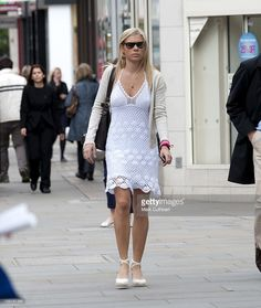 Chelsy Davy Walking In London.