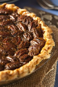 Chocolate Sour Cream Pie with Pecan