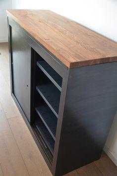 meuble m tallique clapets meubles clapets industriels indus bois et m tal vintage loft. Black Bedroom Furniture Sets. Home Design Ideas