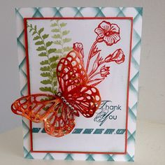 Check out this fabulous butterfly card featuring the new Stampin Up butterfly basics bundle to be release January 6, 2015! For more information visit www.LeahsCards.com for more info