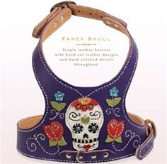 Mexican Candy Skull handmade leather harness