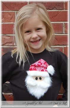 Santa shirt tutorial {A Sprinkle of  This . . . . A Dash of That}