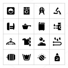 Set icons of laundry. Clothes Icons. $5.00