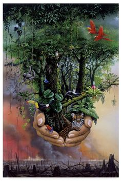 Arcturian Collective ~ It Is Gaia That You Swore To Protect Artist Canvas, Canvas Art, Art Environnemental, Image Nature, New Earth, Paul Gauguin, Environmental Art, Mother Earth, My Arts