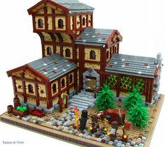 The Drake's Head Inn: A LEGO® creation by A P : MOCpages.com
