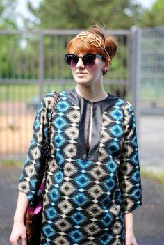 Diva na urlopie, Vintage Retro 1950s Round Fashion Frame Sunglasses 8619