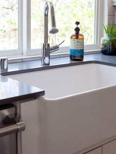 Homeowners love the practicality of this modern farmhouse sink, as seen on Mark & Derek's Excellent Flip.