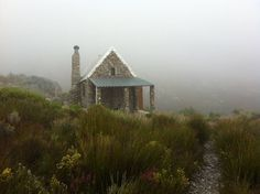 """""""Thomas's Cabin,"""" built one stone at a time in the 1920s by local mountaineers,Hex River Valley, Western Cape, South Africa  Contributed byMary Rolph Lamontagne  #cabinporn #stonehouse"""