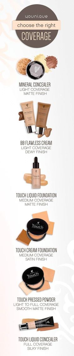 What product suits you best?  I use the touch concealer and the liquid touch foundation!   www.youniquefoundation.com/AmandaDoidge
