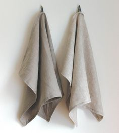 Linen Kitchen Tea Towel - Beige | This beige tea towel is hand-sewn using lightweight linen that... | Kitchen Towels