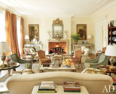 Just a gorgeous balanced room with soft muted colors and beautiful furnishings. Bunny Williams.