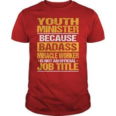 Awesome Tee For Youth Minister T Shirts, Hoodie. Shopping Online Now ==► https://www.sunfrog.com/LifeStyle/Awesome-Tee-For-Youth-Minister-138790931-Red-Guys.html?41382