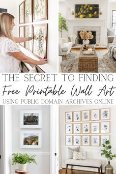 18 of the best online sources to find free printable wall art in the public domain that can be used by decorators, bloggers, artists, and Etsy shop owners. Free Printable Art, Free Printables, Life Hacks Home, Opening An Etsy Shop, Homemade Art, Book Cover Art, Diy Home Crafts, Art Images, Gallery Wall