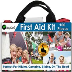 Best First Aid Kit By noyCare-100pcs of Professional Supplies for Easy Care of Trauma-with Small, Cute Bag for Backpack-perfect for Boy Scout, Girl Scout, Car, Baby, Family, Sports, On The Road *** For more information, visit now : Safety and Survival