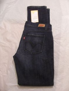 Levi's 524 Jean Skinny Leg Stretch Denim Low Color Blue Moon 115070103 Junior #Levis #SkinnyLeg