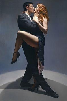 Jorge Botero Lujan . Seduction .  Oil Painting on canvas