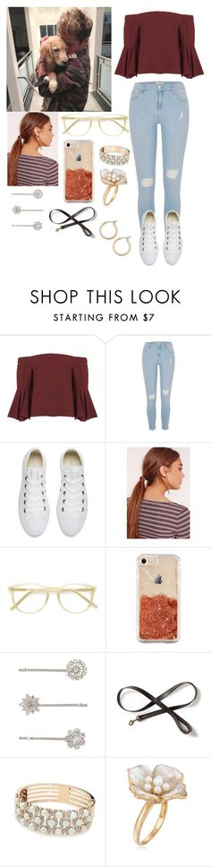 """Hanging out with Cameron at your place"" by joelene-garcia ❤ liked on Polyvore featuring Topshop, River Island, Converse, Missguided, Ace, Accessorize, Ross-Simons and Nordstrom"
