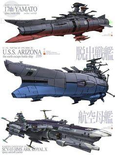 Battleship Yamato fan drawings.