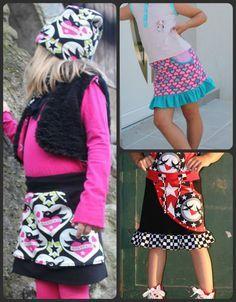 """Sweatrock mit Taschen  Freebook  Ein Sweat Rock für Kinder in den Grössen 74-140 . Mit schönen grossen Taschen zum Sammeln ;) auch aus Jersey nähbar – bei nicht dehnbaren Stoffen klappt es in den meisten grössen bei """"normal"""" gebau..."""