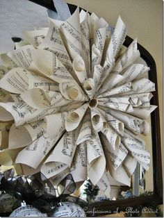 CONFESSIONS OF A PLATE ADDICT Sheet Music Wreath