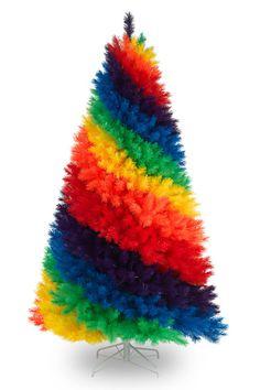 Rainbow colors - Regenboog kleuren Christmas Tree Design, Rainbow Christmas Tree, Merry Christmas, Holiday Tree, Christmas Colors, Christmas Trees, Christmas 2016, Christmas Lights, Christmas Florida